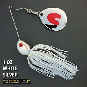 1ct SILVER SHAD 1//2oz PRO TANDEM BB SPINNERBAIT Bass Fishing Baits Spinnerbaits