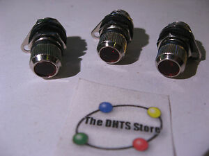 Miniature-Indicator-Lamp-Red-Lens-Panel-Mount-w-Bulb-and-Hardware-O-Ring-Qty-3
