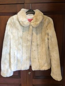 ad16829a94da Image is loading Juicy-Couture-Faux-Fur-Jacket