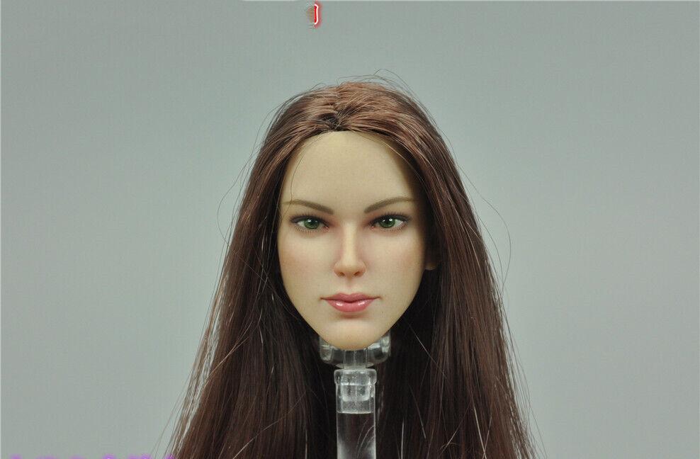 1 6 VERYCOOL FX07 B B B European and American Brown Long straight Headsculpt Model a6bc6b