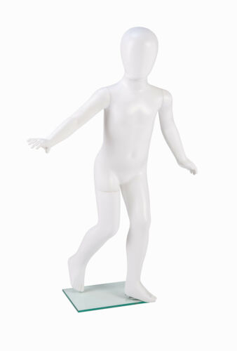 Kids Matt White Egg-head Display Mannequin Shop Retail Clothing Display Dummy