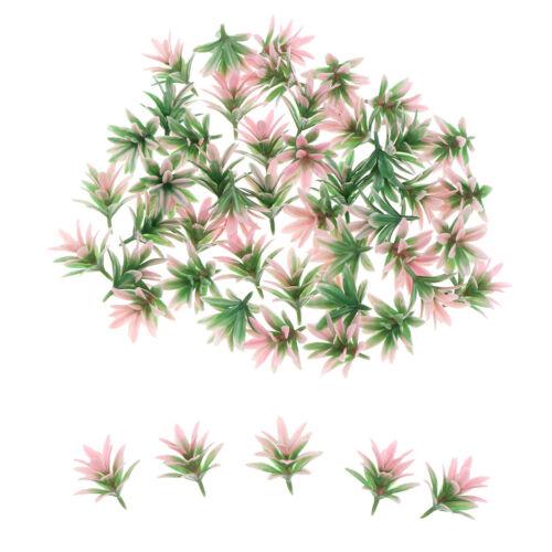 50 Stück Rosa Orchidee Blume Modellbahn Eisenbahn Bäume Landschaft 25mm 1