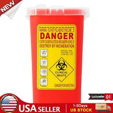 Sharps Container Bin Tattoo Medical Biohazard Piercing Needle Collect Box