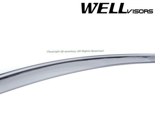 Fit 13-18 Santa Fe XL LWB WellVisors Smoke Chrome Trim Window Visors Rain Guard