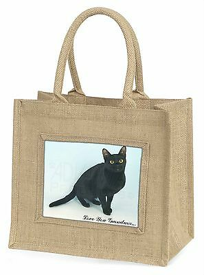 Schwarze Katze 'Liebe dich Oma' Große Natürliche Jute-einkaufstasche Christus,