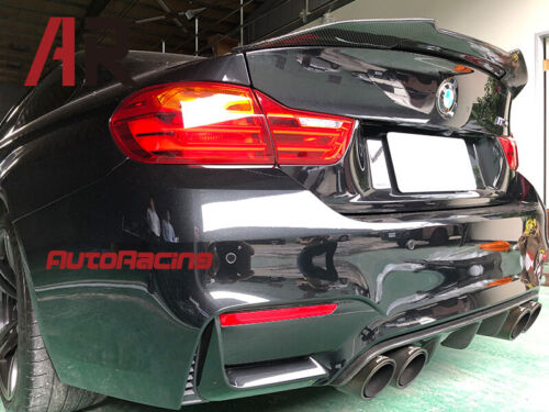 Carbon Fiber PSM Style Trunk Wing Spoiler Lip Fit BMW F82 M4 Coupe Only