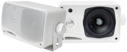 New Pyle Pair PLMR24 3.5'' 200Watt 3-Way Waterproof Mini Box Boat Speaker System