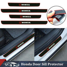 4pcs Black Rubber Car Door Sill Scuff Cover Panel Step Protector For Honda Fits 2006 Civic