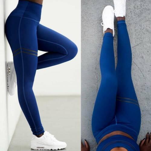 Womens Sports Leggings Yoga Pants High Waist Compression Gym Fitness Trousers UK