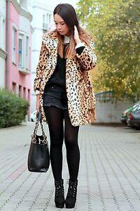cd6b843ddd5 bnwt topshop uk size 8 faux fur coat leopard animal print jacket ...