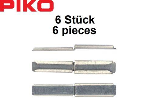OVP - NEU Piko H0 55294 Übergangs-Schienenverbinder 6 Stück