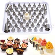52pcs Icing Piping Set Pastry Fondant Cake Decorating Sugarcraft Nozzle Tip Tool