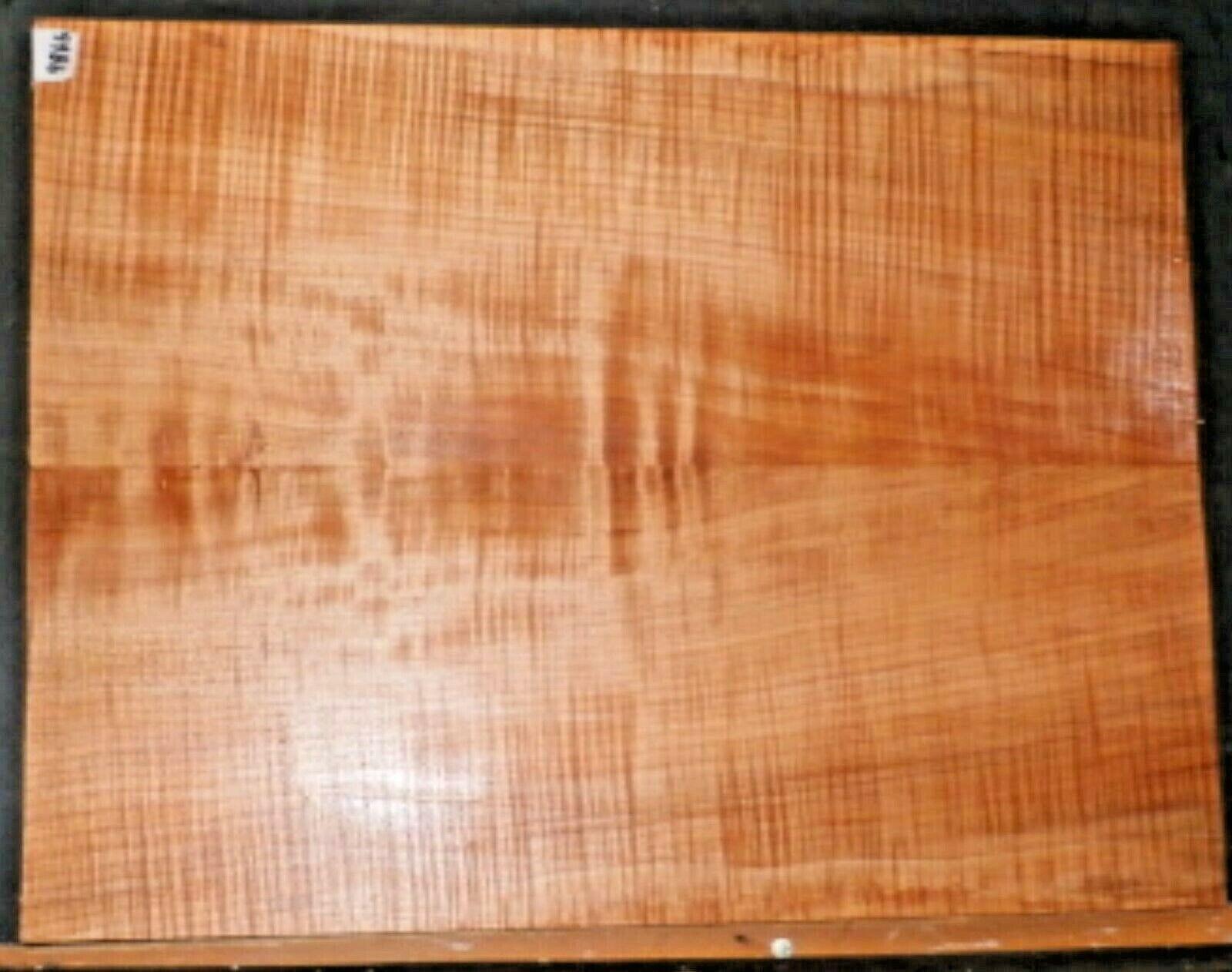 Flamme Curly Ahorn Holz 9866 Gitarrenbauer Solid Körper Gitarre Oberteil Set 24x
