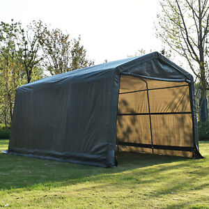 Image is loading 10x15x8ft-Outdoor-Tent-Auto-Storage-Shed-Shelter-Portable- & 10x15x8ft Outdoor Tent Auto Storage Shed Shelter Portable Garage ...