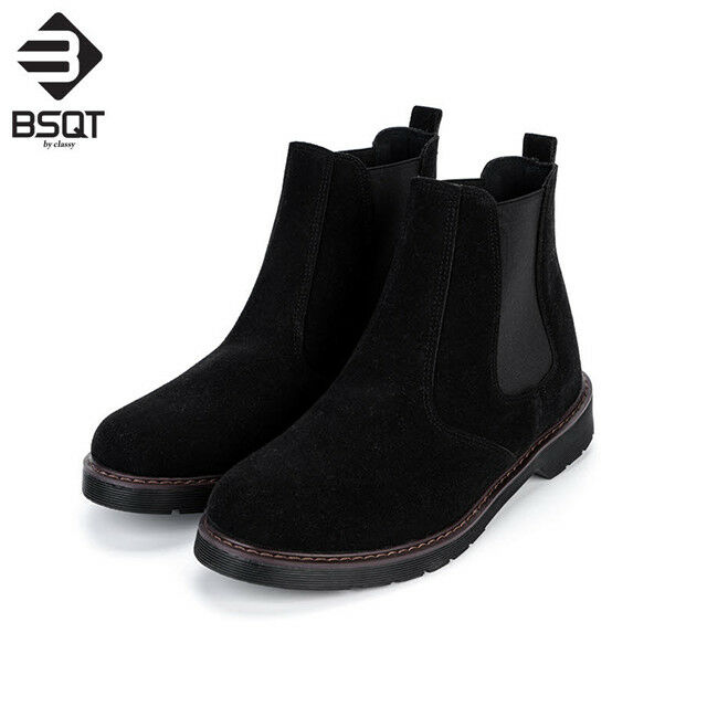 BSQT 191 Chelsea Ankle Suede Boots Sneakers shoes Height Increase shoes Elevator