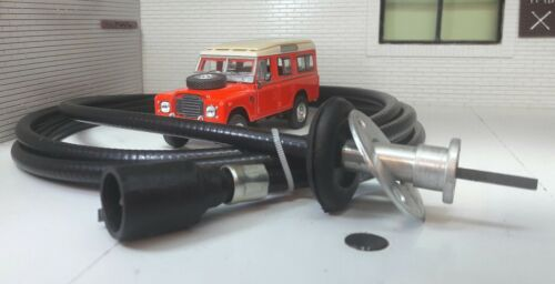 Land Rover Serie 3 Cable Velocímetro Smiths Jeager Speedo Unidad Clip Head BR1806