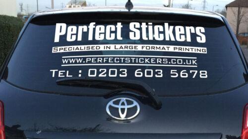 Personalised Business Rear Window Car Van Advertising Vinyl Signs  1200//600