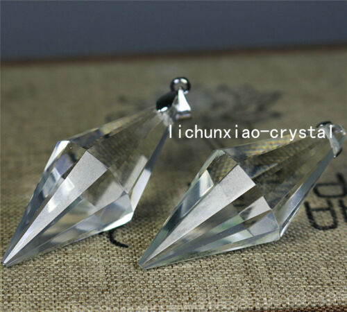 10pcs 12 sided VOGEL Style Natural Clear Quartz Crystal DT Wand POINT Pendant