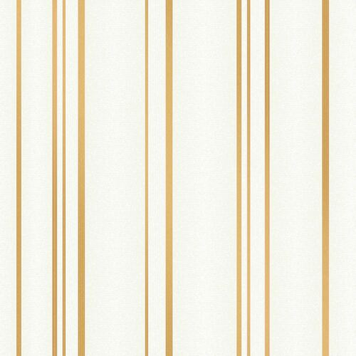 FINE DECOR FD42343 SPARKLE PULSE STRIPE WALLPAPER CREAM GOLD