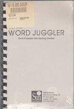 SunRem Issue of Apple IIe Word Juggler - Word Processor/Manual & Disks - SEALED!