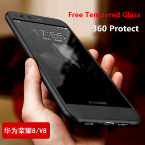 online store 2f895 1c4b9 Details about 360° Shockproof Hybrid Hard + Tempered Glass Case Cover For  Huawei GR5 2017
