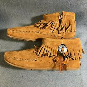 Minnetonka-522-Concho-Feather-Boot-Brown-Multiple-sizes