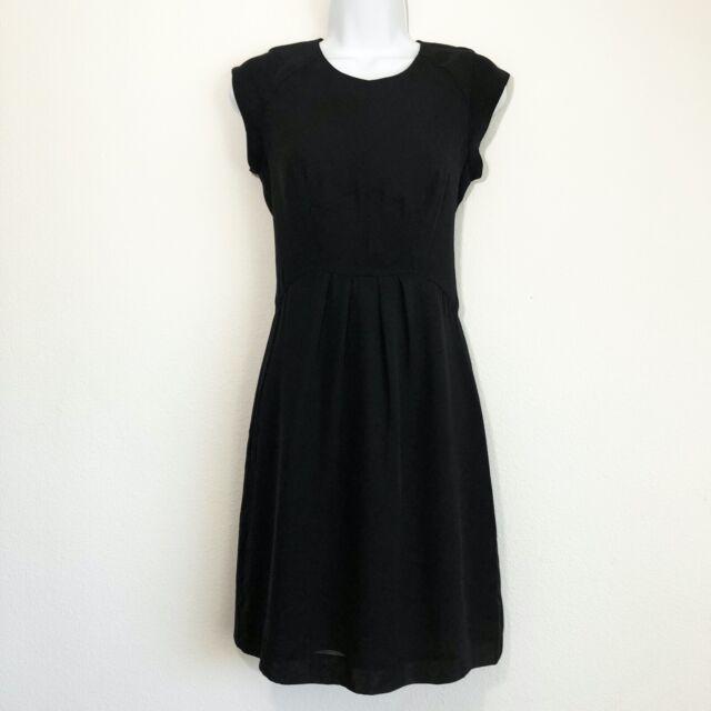 Fossil Black Sheath Dress Cap Sleeve Women's Size 2, Black Zipper