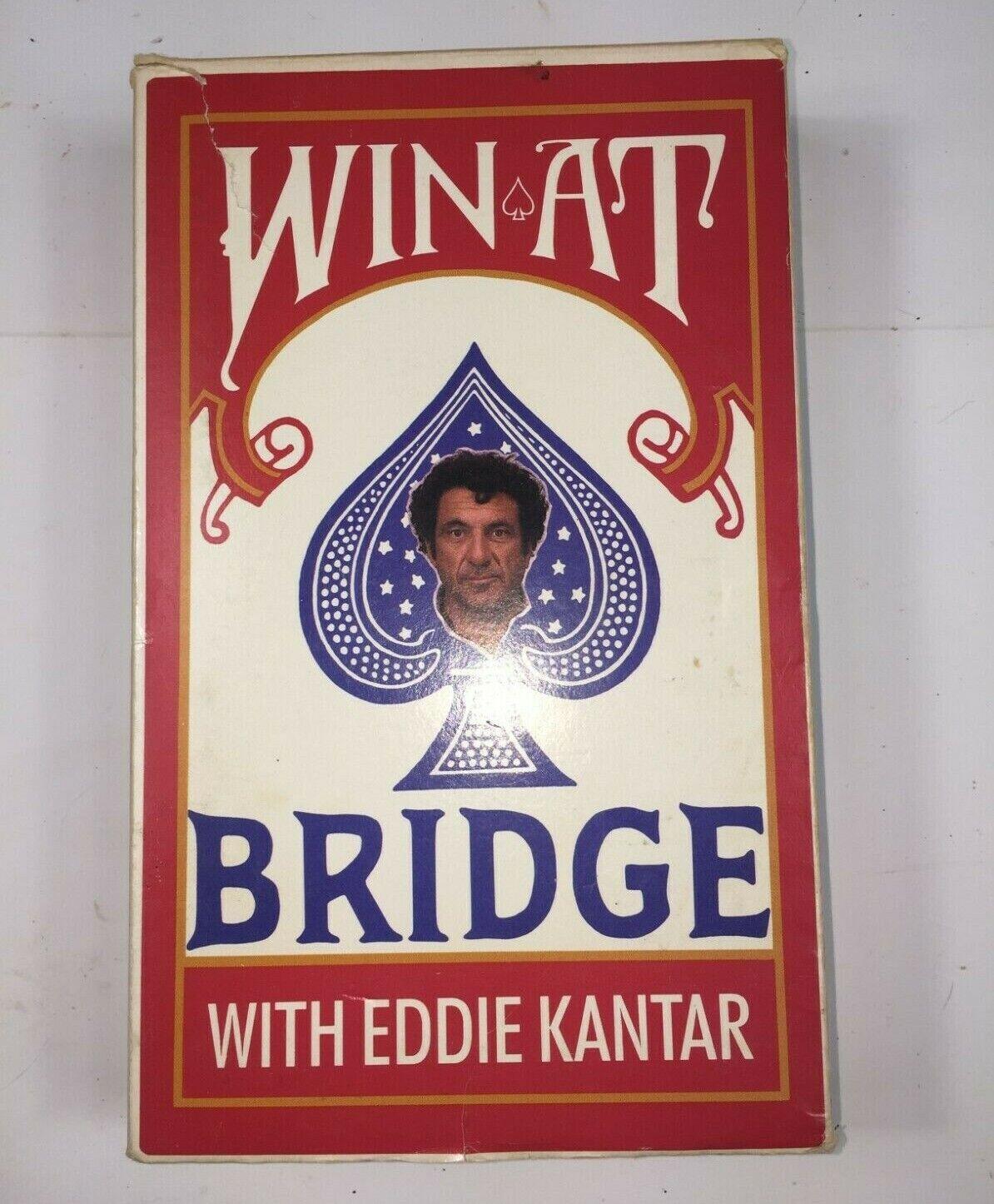 Vintage Rare 1986 Win At Bridge With Eddie Kantar VHS Tape Learning Card Games