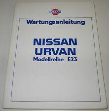 Werkstatthandbuch Nissan Urvan E23 / E 23 Stand Juni 1981!