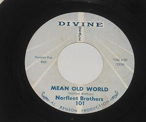 Black-Gospel-Norfleet-Brothers-7-034-Single-Mean-Old-World-I-Got-Jesus-On