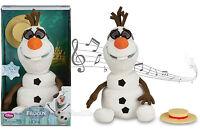 Disney Store Frozen Talking Singing Animated Olaf Plush Snowman Toy Doll