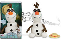 Disney Store Frozen Talking Singing Animated Olaf Plush Snowman Toy Doll