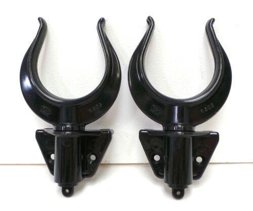 Pair Oarlock / Rowlock Sockets Black Nylon 17mm Side Mount Boat Dinghy New N52