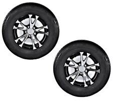 2-Pack Radial Trailer Tires T07 Aluminum Black Wheel Rims ST205/75R15 LRC 5 Lug