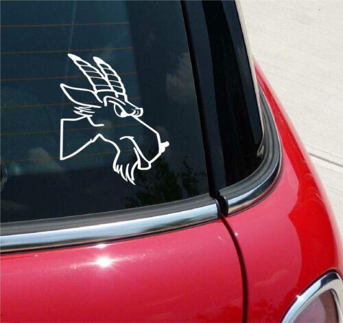 MAD BILLY GOAT GOATS MASCOT GRAPHIC DECAL STICKER ART CAR WALL DECOR