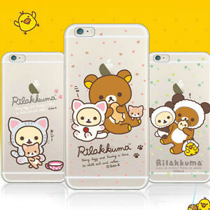 newest aa80f 7e1b6 Details about Genuine Rilakkuma New Clear Jelly Case LG G7/LG G6/LG G5/LG  G4/LG G3 Case 7 Type