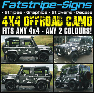 4x4 Offroad Car Camo Graphics Stickers Decals Camouflage