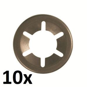 10x Starlock Acier Laqué 9,5 Mm 3/8'' Pouce Disque Rondelle Plate De Sécurité Ngnwt1sp-07212215-765147781