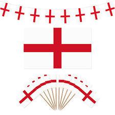 Inghilterra St George'S DAY FESTA Decorazioni-Bandiera/40m/100 Bunting bandiera Picks