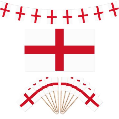 Angleterre st george/'s jour décorations de fête-flag//40m bunting//100 drapeau picks