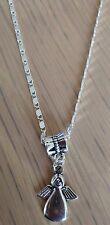 Tibetan silver Angel girl Pendant and chain 18inch
