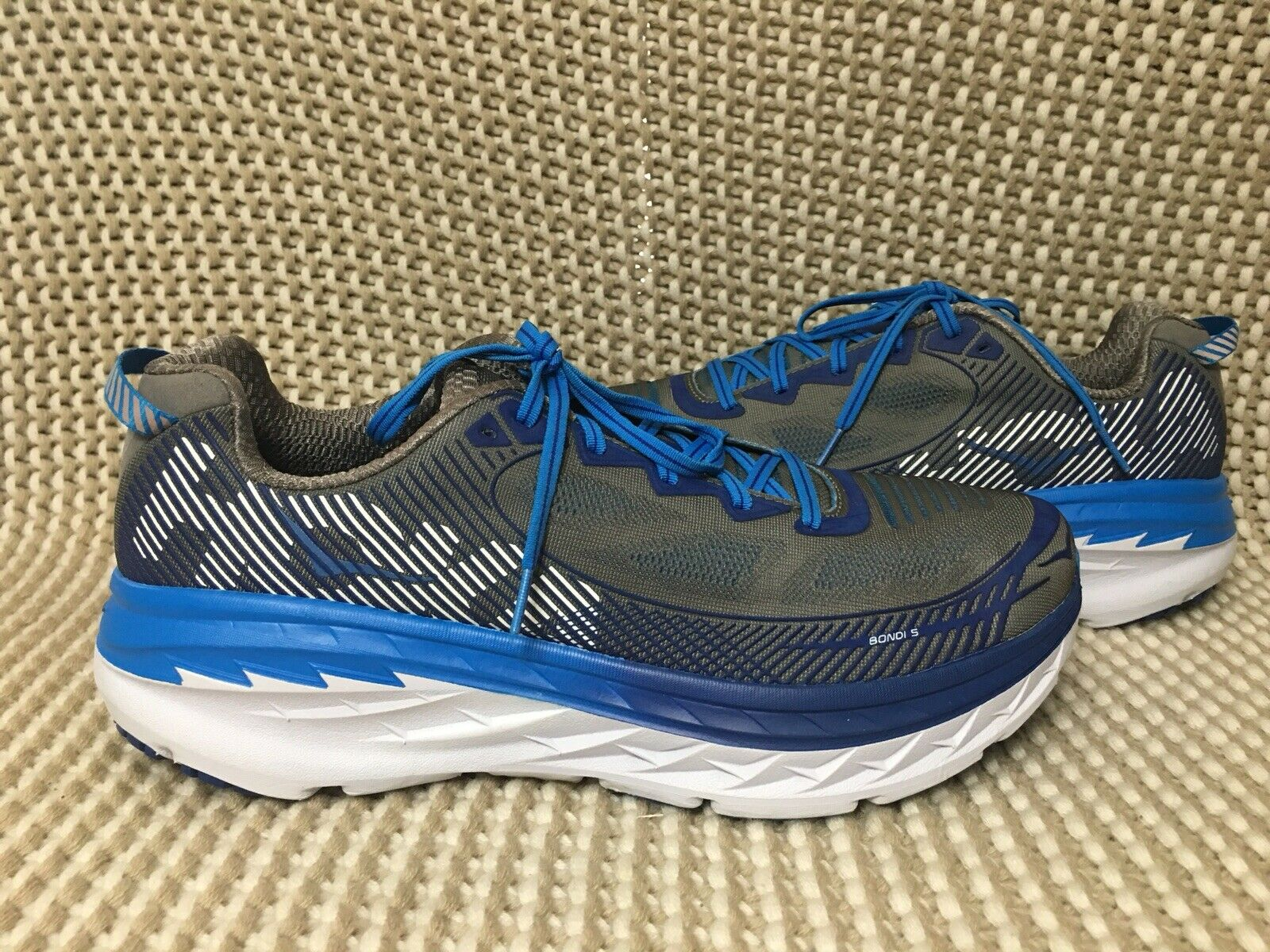 NEW Uomo HOKA ONE ONE BONDI 5 RUNNING scarpe US US US 12.5   EU 47 1 3 blu 55685d