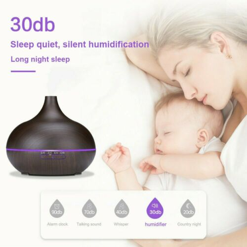 LED Ultraschall Luftbefeuchter 500ml Aroma Diffuser Aromatherapie Duftlampe RGB