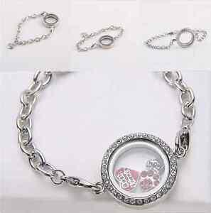 Fashion-Round-Crystal-Silver-Plated-Floating-Charm-Memory-living-Locket-Bracelet