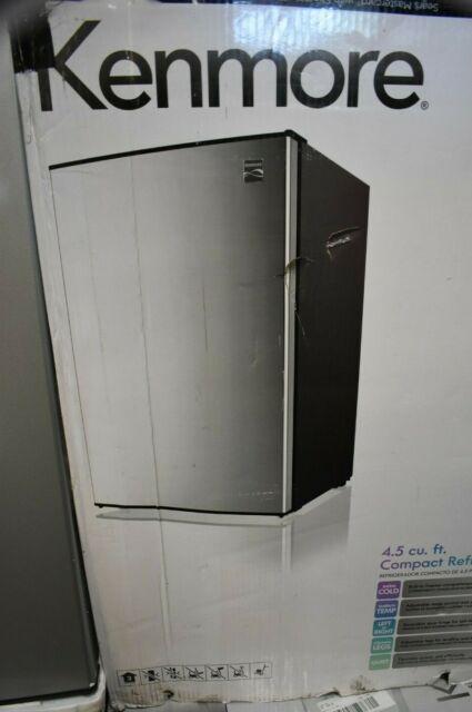 Kenmore Compact Mini Refrigerator 4.5 cu ft.  Silver - Dorm Office - Has Dents