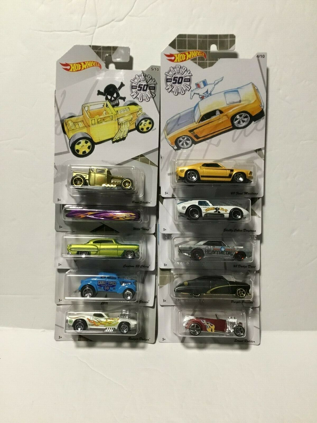 2019 HOT WHEELS 50th Anniversaire Larry Wood collection BN