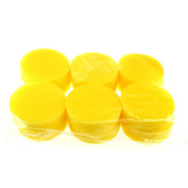 12X Waxing Wax Polish Foam Sponge Fine Pads For Car Automotive Care Supplies WA
