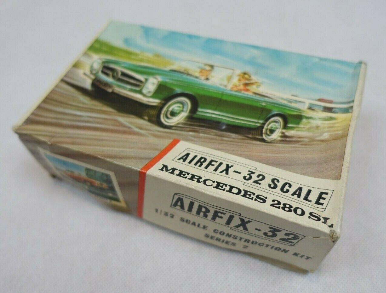 Mercedes 280 SL AirFix Empty Box - 1 32 Scale, Series 2 - Jaguar 420 Ferrari 250