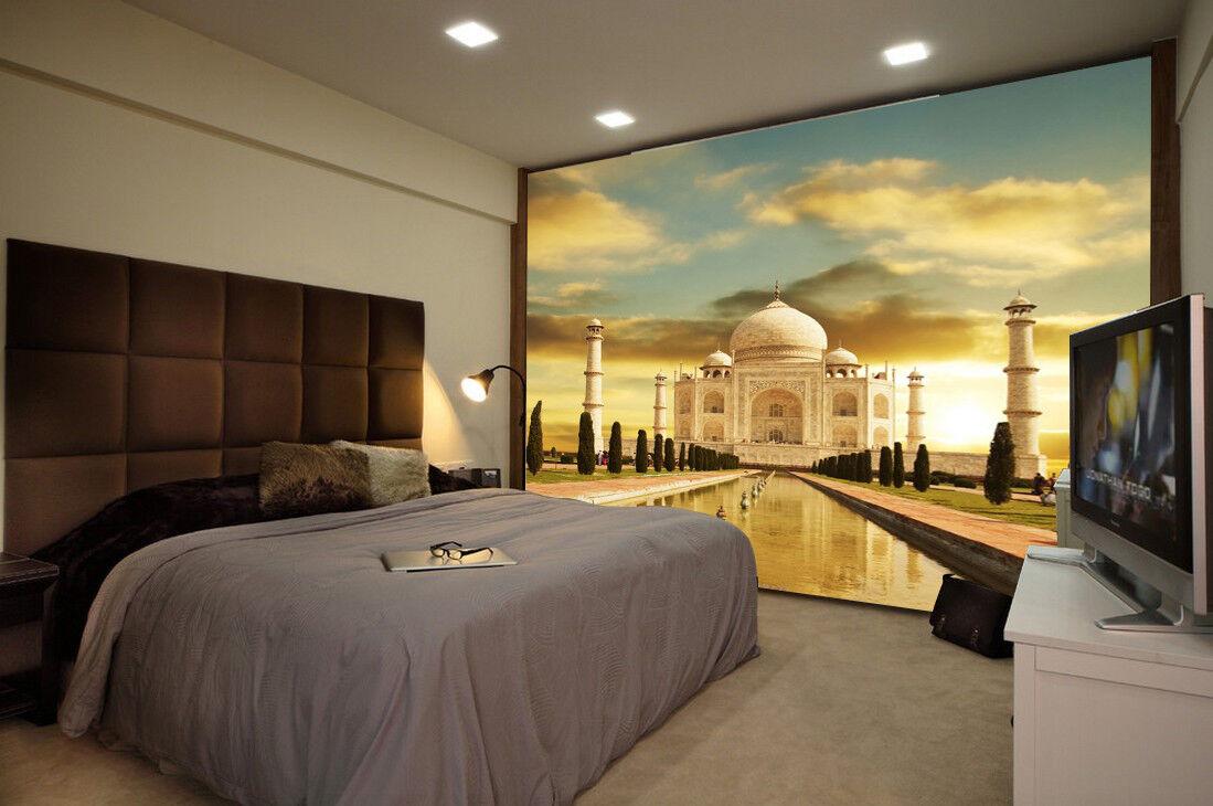 3D Taj Mahal Landschaft 523 Tapete Tapeten Mauer Foto Familie Tapete Wandgemälde