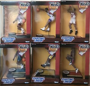 1997 Starting Lineup Back Board Kings SET (6) Shaquille O'Neal Charles Barkley +